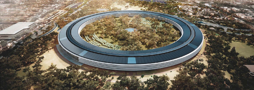 Apple new HQ with Solar-Panels