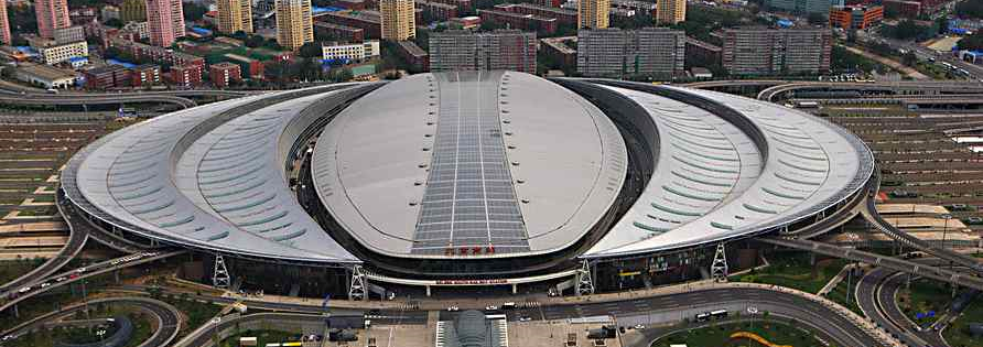 Beijing New Railway-station with PV-panels